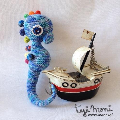Caballo Azul Mo - en su ambiente